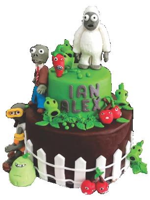 Compra tu pastel de plantas vs Zombies en Creapasteles.com
