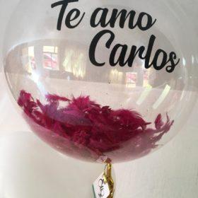 Globo Burbuja de Helio Te Amo